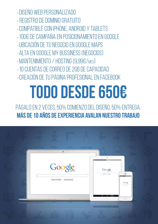 promoción web